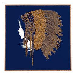 Budi Kwan Native Headpiece Framed Wall Art - Bamboo frame with high gloss print