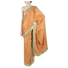 Orange and beige sari available only at Pernia's Pop-Up Shop.