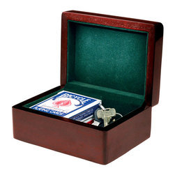 """Howard Miller - Rosewood Hall Wood Framed Presentation Box wi - Keep your odds and ends safe in this handsome box, which is finished in a dark, attractive Rosewood Hall color. The interior of the box is lined with soft felt, to keep items safe and quiet during storage. It's the perfect place to store your keys, wallet, or anything else you need quick and easy access to. * Handsome high-gloss presentation boxes with green felt-lined interior. . Finished in Rosewood Hall on select hardwoods and veneers. . H. 2-3/4"""" (7 cm). W. 7"""" (18 cm). D. 5"""" (13 cm)"""