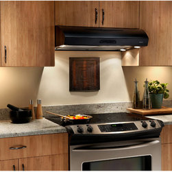 Broan - Broan Evolution 2 Series 36 inch Black Under-cabinet Range Hood - This ultra-quiet range hood from Broan sucks up air and odors while cooking. With a handsome under-cabinet design, this range hood is a welcome addition to any kitchen.