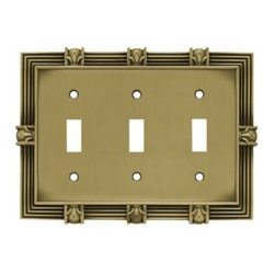 Liberty Hardware - Liberty Hardware 64477 Pineapple WP Collection 6.78 Inch Switch Plate - A simple change can make a huge impact on the look and feel of any room. Change out your old wall plates and give any room a brand new feel. Experience the look of a quality Liberty Hardware wall plate. Width - 6.78 Inch, Height - 4.9 Inch, Projection - 0.3 Inch, Finish - Tumbled Antique Brass, Weight - 0.71 Lbs.