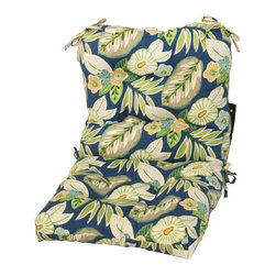 None - Outdoor Marlow Seat/ Back Chair Cushion - Dress up your outdoor furniture with this comfortable chair cushion. This brightly colored cushion is weather-resistant and features UV protection for lasting durability.