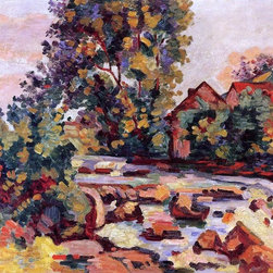"""Armand Guillaumin The Bouchardon Lock - 16"""" x 20"""" Premium Archival Print - 16"""" x 20"""" Armand Guillaumin The Bouchardon Lock premium archival print reproduced to meet museum quality standards. Our museum quality archival prints are produced using high-precision print technology for a more accurate reproduction printed on high quality, heavyweight matte presentation paper with fade-resistant, archival inks. Our progressive business model allows us to offer works of art to you at the best wholesale pricing, significantly less than art gallery prices, affordable to all. This line of artwork is produced with extra white border space (if you choose to have it framed, for your framer to work with to frame properly or utilize a larger mat and/or frame).  We present a comprehensive collection of exceptional art reproductions byArmand Guillaumin."""