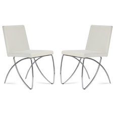 Contemporary Dining Chairs Scarlet White Dining room Chair Set