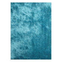 Rug - Solid Turquoise Shaggy Area Rug, Turquoise, 2 X 3 Ft, Solid, Hand-Tufted Area Ru - Living Room Hand-tufted Shaggy Area Rug Door Mat