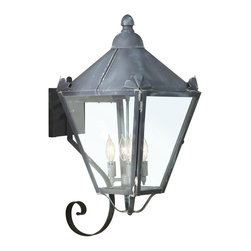 Troy Lighting - Preston Outdoor Wall Lantern - Preston Outdoor Wall Sconce features Clear or Clear Seeded Glass with a Natural Rust or Charred Iron finish. Available in three sizes. Also available in Pendant and Post Light. 60 watt, 120 volt B10/Candelabra incandescent bulbs are required, but not included. Wet Location listed. : 7.25 inch width x 15.75 inch height x 10 inch depth. Medium: 9.25 inch width x 20 inch height x 12.5 inch depth. Large: 13 inch width x 26.25 inch height x 16.5 inch depth.