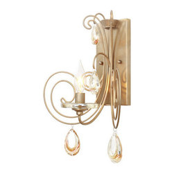Varaluz - Varaluz 238K01 Elysse 1 Light Wall Sconce - Features:
