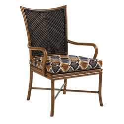 Lexington - Tommy Bahama Island Estate Lanai Dining Arm Chair - The twisted woven wicker of the seat back is trimmed with a braided welt to add the attention to detail expected in any product with Tommy Bahama on its label, and it is labeld on the back seat area with an attractive nameplate.