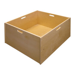 Ecr4kids - Ecr4Kids Classroom 4 Sided Wooden Unit Block Cart Tub W/ 4 Built-In Handles - A hardwood, mobile block tub, perfect for storage of toys, puppets, dress-up items and moreA hardwood, mobile block tub, designed to keep blocks organized yet always within reach for little hands. This space-saving mobile unit features 4 built-in handles and 4 heavy-duty casters for easy mobility. While ideal for storing unit and hollow blocks, this tub is perfect for storage of toys, puppets, dress-up items and more