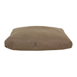 Carolina Pet Company - Brutus Tuff Petnapper, Khaki, 44 X29 X 4 - Super tough for pets that are rough on their beds.  1200 D Polyester fabric makes this the perfect bed for pets that like to scratch or chew.  Easy off zippered cover for easy care.  Machine washable.  100% recycle high loft polyester fill keeps pets off cold floors for added comfort and relief on hips, joints, and pressure points.
