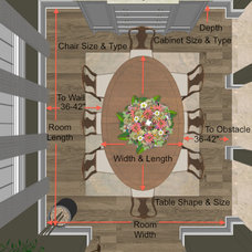 Traditional Floor Plan by Steven Corley Randel, Architect