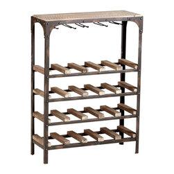 Industrial Look Iron and Wood Wine Rack - *Gallatin Wine Rack