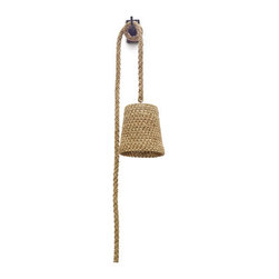 Ecofirstart - Rattan and Rope Hanging Wall Pendant - Charming Organic Rope Wall Pendant.