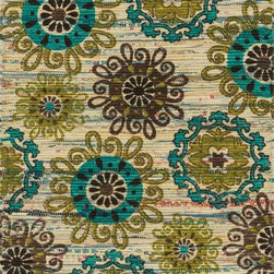 """Loloi Rugs - Loloi Rugs Aria Collection - Ivory / Multi, 3'-0"""" x 3' Round - Expressive and relaxed, stylish and fun. The Aria Collection from India has it all. Pretty paisley patterns, flourishing flowers, dreamy damasks and magical medallion designs are printed onto 100% recycled cotton Chindi for scatter rugs that are flirty and fashionable. Dressed in a palette of bold, saturated colors that take you from cool blues and pinks to warm spice tones and modern tropical hues, too, Aria rugs come in select scatter sizes that will accent choice spaces with flair."""