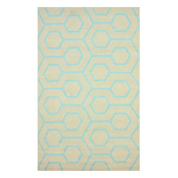 nuLOOM - Contemporary Outdoor Blue Hand Hooked Area Rug Outdoor Trellis, Blue, 8' X 10' - Made from the finest materials in the world and with the uttermost care, our rugs are a great addition to your home.