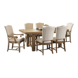 Riverside Furniture - Riverside Furniture Summerhill 8 Piece Dining Table Set in Canby Rustic Pine - Riverside Furniture - Dining Sets - 91650Summerhill8PcDiningSet3