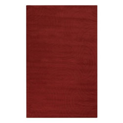 Surya Rugs - Surya SCU-7551 Sculpture Designer Hand Loomed 100% Wool Rust Red Rug - 100% Wool. Style: Designer. Rugs Size: 5' x 8'. Note: Image may vary from actual size mentioned.