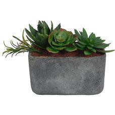 Contemporary Artificial Flowers Plants And Trees by Overstock.com