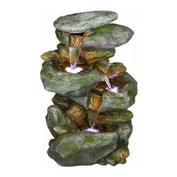 Outdoor Garden Water Features - This easy to install backyard water feature is a great piece for any setting. Engineered to perfection, this backyard water wall was created to work well through many seasons. Installation is simple; you will have it up and running in no time. Furthermore, this patio fountain uses a 110 AC volt electrical outlet. Turning your outdoor area into magical environment has never been easier by adding this piece.