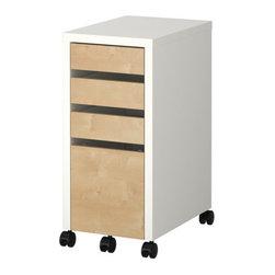 Henrik Preutz - MICKE Drawer unit/drop file storage - Drawer unit/drop file storage, white, birch effect
