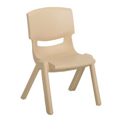 "Ecr4kids - Ecr4Kids Preschool Playroom 16"" Resin Chair Sand 6 Pack - One piece design chairs feature fade-resistant, solid, 100% Polypropylene that will not crack, chip or peel. Vented back with smooth rounded edges for safety. No hardware to tighten - no maintenance needed. Easy to clean surface, use a damp cloth or sponge using warm water & mild soap. Wipe dry. Use only a non-abrasive general purpose cleanser. Abrasive or alcohol based cleansers will mark/stain the surface."