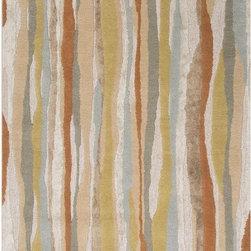 None - Handmade Ivory/ Red Wool/ Art Silk Plush Pile Rug (5 x 8) - Handmade Ivory/ Red Wool/ Art Silk Plush Pile Rug (5 x 8)