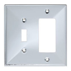 Liberty Hardware - Liberty Hardware 135880 Beverly WP Collection 4.96 Inch Switch Plate - Polished - A simple change can make a huge impact on the look and feel of any room. Change out your old wall plates and give any room a brand new feel. Experience the look of a quality Liberty Hardware wall plate.. Width - 4.96 Inch,Height - 4.9 Inch,Projection - 0.3 Inch,Finish - Polished Chrome,Weight - 0.2 Lbs