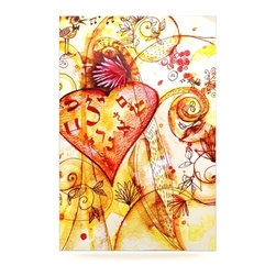 """Kess InHouse - Marianna Tankelevich """"Tree of Love"""" Metal Luxe Panel (16"""" x 20"""") - Our luxe KESS InHouse art panels are the perfect addition to your super fab living room, dining room, bedroom or bathroom. Heck, we have customers that have them in their sunrooms. These items are the art equivalent to flat screens. They offer a bright splash of color in a sleek and elegant way. They are available in square and rectangle sizes. Comes with a shadow mount for an even sleeker finish. By infusing the dyes of the artwork directly onto specially coated metal panels, the artwork is extremely durable and will showcase the exceptional detail. Use them together to make large art installations or showcase them individually. Our KESS InHouse Art Panels will jump off your walls. We can't wait to see what our interior design savvy clients will come up with next."""