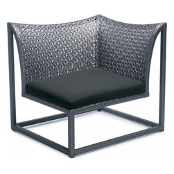 Nuevo - Patio Outdoor Manhattan Right Side Armchair Sofa, Coal and Sand - Nuevo Living has become one of the premier manufactures of high quality modern furniture and decor. Specializing in quality reproductions of modern classics and designer furniture, Nuevo Living product range has something for every taste. Nuevo Living products include designer chairs, modern sofas, contemporary tables, designer media centers, modern decorations and more.