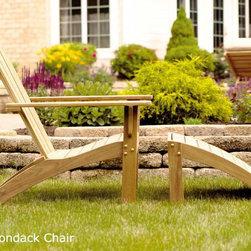 Teak Adirondack Chair - Sleek Teak Adirondack Chair made of Grade A Teak.