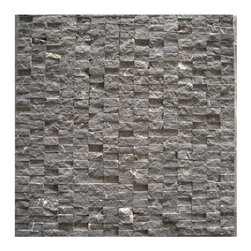 Premier Worldwide - Emperador Cafe Splitface 12X1 Marble Mosaic3 - Emperador Cafe split face on a meshed 12X12 is an ideal mix of warm taupe and beiges. This mosaic tiles are recommended for wall applications in both residential and commercial applications.