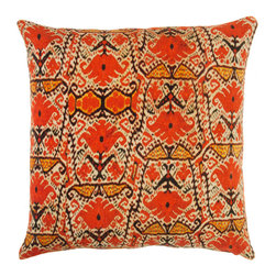 Barn & Willow - Rajasthan Pillow Cover - Our Rajasthan pillow cover is rich and bold in design. The print depicts authentic design patterns found in the exotic state of Rajasthan in India.
