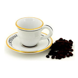 Artistica - Hand Made in Italy - Posata: Espresso Cup and Saucer Set - Posata Collection.