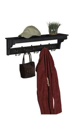 Home Decorators Collection - Sonoma Coat Rack - Free up your closet with this elegant home accent. It comes complete with wrought iron coat hooks and a convenient shelf for storing hats and other accessories. This entryway furniture is quality-crafted from solid wood and wood veneer to provide years of use and lasting style. Don't wait; buy now.Features a rich, distressed finish.Select areas with clusters of small indentations add rustic charm.Some assembly required.
