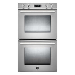 """Bertazzoni FD30PROXT Professional Series 30"""" Double Oven - 30"""" Double Electric Wall Oven with 4.1 cu. ft. Dual Fan Convection Ovens, Pyrolytic Self Clean, 4 Heating Elements and Combo Control Interface - See more at:"""