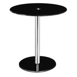 Altra - Round Chrome Accent Table - Black - Give your room that pop of color you've been looking for now with the Round chrome accent table! This adorable table looks sleek and is easy to assemble.