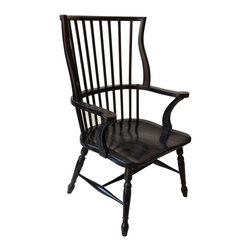 NOIR - NOIR Furniture - Windsor Chair in Hand Rubbed Black - SOF205HB - Features: