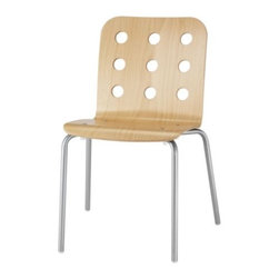 Nicholai Wiig Hansen - JULES Visitor chair - Visitor chair, birch, silver color