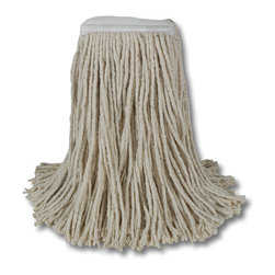"UNISAN - 32 OZ MOP HEAD-LEADER 12/CS - Four-ply, cut-end yarn. Absorbent natural cotton fiber for general mopping. Rayon has immediate absorbency and wet release properties ideal for finishing. Cotton/synthetic blend absorbs 5.5 times its weight in water. Standard heads use clamp style mop handles; saddleback heads use clamp or gripper style handles; lieflat heads use lieflat screw-in handles (all sold separately). 12 mop heads per case.. . . . Premium Standard Head. Cotton 32-oz.. Full-weight premium fiber.  1 1/4"" polyester headband.. 32-oz. Mop Size. Cut-End Mop Heads. Dimensions: Height: 0.51925, Length: 0.51925, Width: 0.51925. Country of Origin: US   CAT: Mops, Brooms & Brushes Mops & Equipment Cut-End Mop Heads"