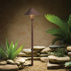 """Kichler - Kichler 15439TZT Landscape Path & Spread Light in Textured Tannery Bronze 15439T - Textured Tannery Bronze finishBulb Included: Yes Bulb Type: 3156K Finish: Textured Tannery Bronze Height: 20.25"""" Number of Lights: 1 Socket 1 Base: Wedge Socket 1 Max Wattage: 24 Style: Soft Contemporary Casual Lifestyle Type: Path Light Voltage: 12 Volt Wattage: 24.4 Watt Weight: 3.15 LBS Width: 6"""""""