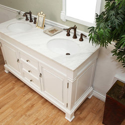 "60"" Helena Double Sink Vanity - White -"