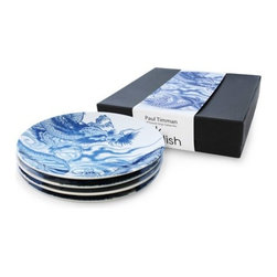 Ink Dish - Irezumi 4 Side Plate Gift Set - If you don't feel ready to put some ink under your skin and Ed Hardy's shirts are not your thing Ink Dish - Irezumi 4 Side Plate Gift Set, is the perfect alternative. For Paul Timman, art and tattooing are a perfect mix. Paul is one of the leading tattoo artists in the world and recognized as a specialist in tribal and traditional Japanese designs.