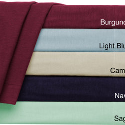 ione - Convert-A-Fit Flannel 4-piece Sheet Set - Fitted and Flat Sheets are Connected - Never loose your top sheet again with Convert-A-Fit sheets. This simple yet elegant set is available in a variety of colors that will complement your current decor.