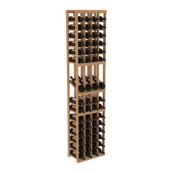 Wine Racks America - 4 Column Display Row Wine Cellar Kit in Pine, Oak Stain + Satin Finish - Make your best vintage the focal point of your wine cellar. Four of your best bottles are presented at 30° angles on a high-reveal display. Our wine cellar kits are constructed to industry-leading standards. Youll be satisfied with the quality. We guarantee it.