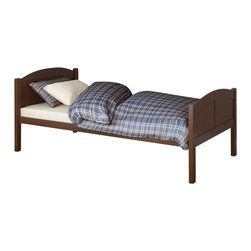 Sonax - Sonax CorLiving Concordia Solid Wood Platform Bed in Espresso Brown-Queen Size - Sonax - Beds - BCC578Q - Enhance any sleeping space with a bed from CorLiving. The rich Espresso Brown stained solid wood bed with simple arched styling will provide the perfect spot to curl-up. The Concordia Collection is not only good looking but is upgraded featuring 12 slats of support - No box spring is needed so you can place your mattress directly on the sturdy wood slats. Rest comfortably knowing you�ve invested in a solidly constructed bed from CorLiving.