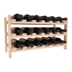 Wine Racks America - 18 Bottle Stackable Wine Rack in Pine, Pine (Unstained) - Expansion to the next level! Stack these 18 bottle kits as high as the ceiling or place a single one on a counter top. Designed with emphasis on function and flexibility, these DIY wine racks are perfect for young collections and expert connoisseurs.