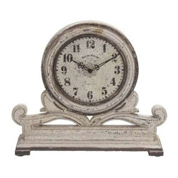 BZBZ50982 - Classic and Traditional Wood Table Round Face Clock - Classic and Traditional Wood Table Round Face Clock. Stay organized and punctual in your life with this elegant creation of efficient table clock. Measuring 16 in in width, 4 in in thickness and 15 in in height, this functional piece of clock looks fabulous as both home and office