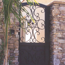 Mediterranean Home Fencing And Gates by Colletti Design Iron Doors