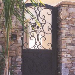 Wrought Iron Walk Gate -