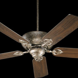 "Quorum Lighting - Quorum Lighting Chateaux 52"" Traditional Ceiling Fan X-85-52587 - From the Chateaux Collection, this Quorum Lighting ceiling fan draws your eye using classic details and elements. Beautiful curvature is paired with elegant detailing, all accentuated by your choice of motor finishes. Coordinating fan blades and a reversible motor add to the appeal of this traditional ceiling fan."